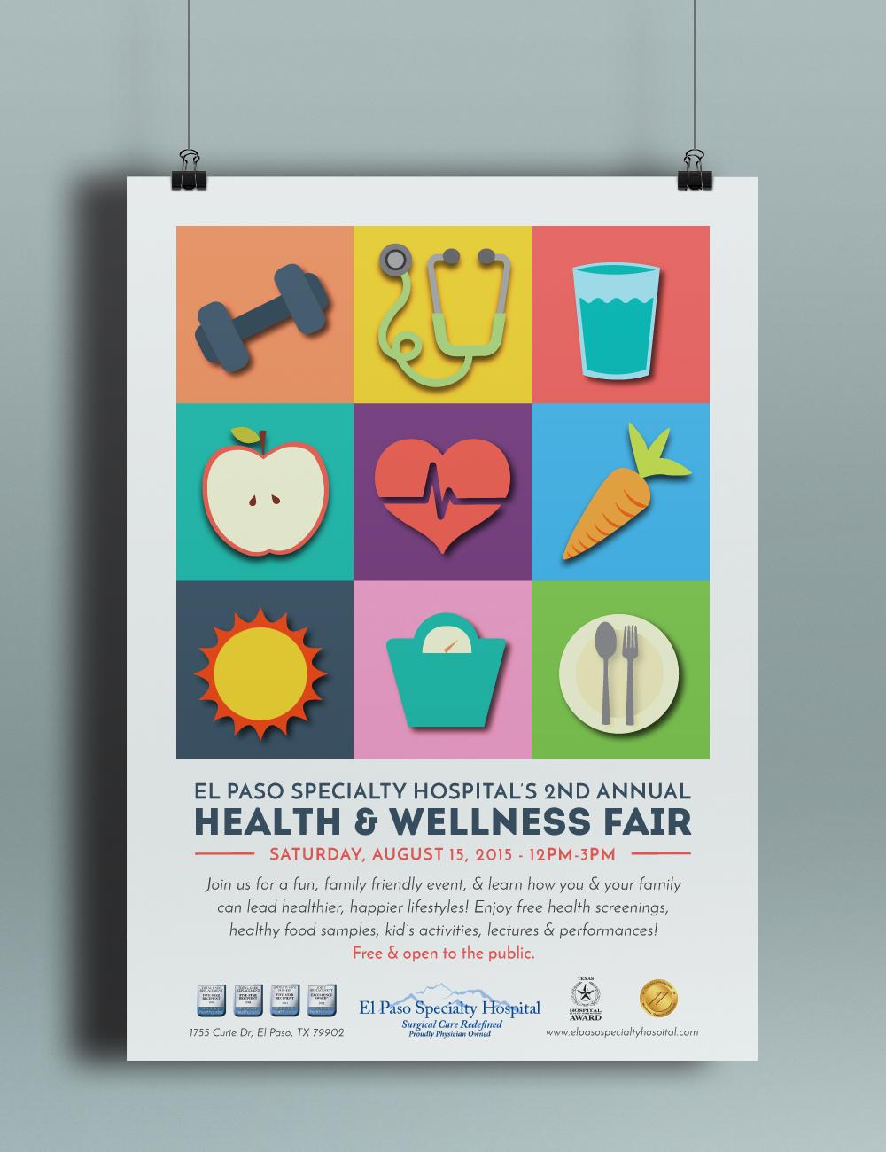 Poster design health - Health Wellness Fair Poster Design