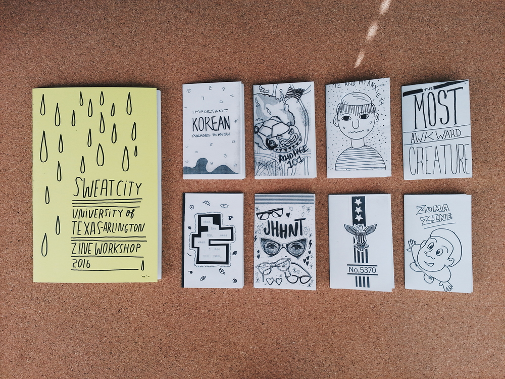 ALL IN A DAYS WORK: Some student made zines from our workshop!