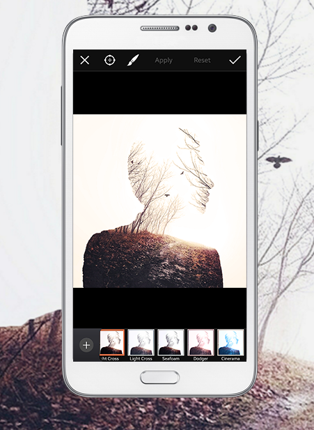 PicsArt features professional photo editing tools available to everyone. Image from the PicsArt website.
