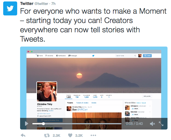 Twitter Moments ad by Twitter. Images from Twitter.com.