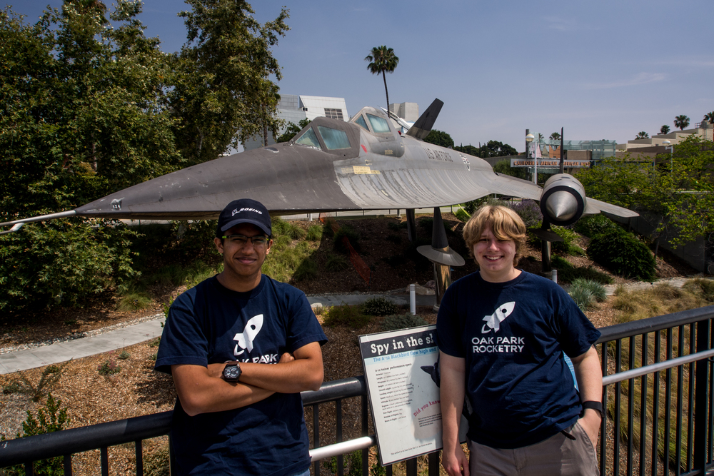 Posing in Front of an A-12 Blackbird, a Trainer Variant of the Famous SR-71 Blackbird