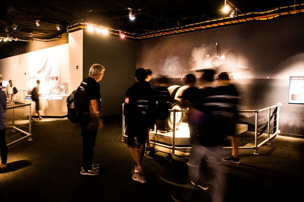 Walking Through the Endeavour Exhibit at the Science Center