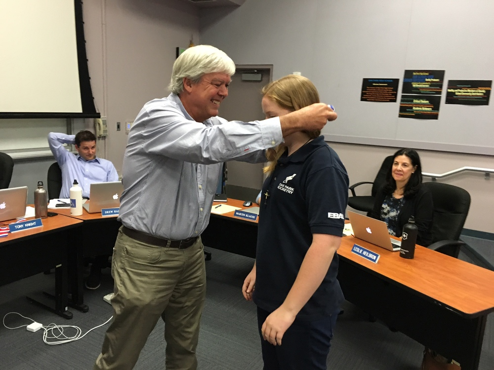 Jennifer is Awarded her TARC Medal and Certificate