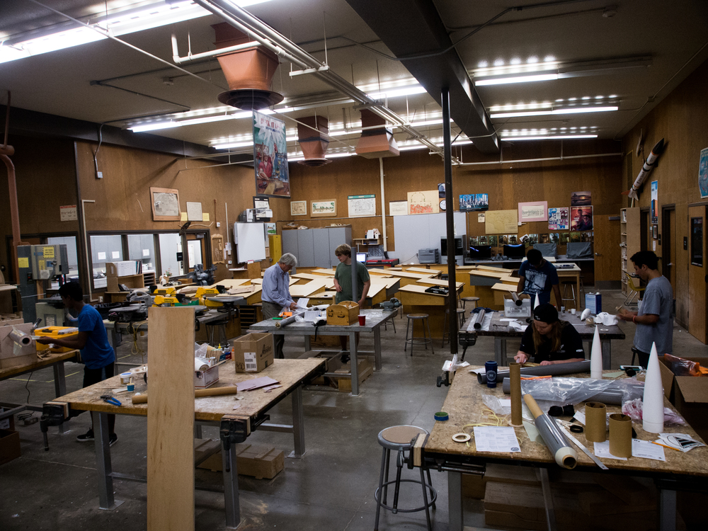 We're very thankful to be able to use our schools woodshop to build our rockets.