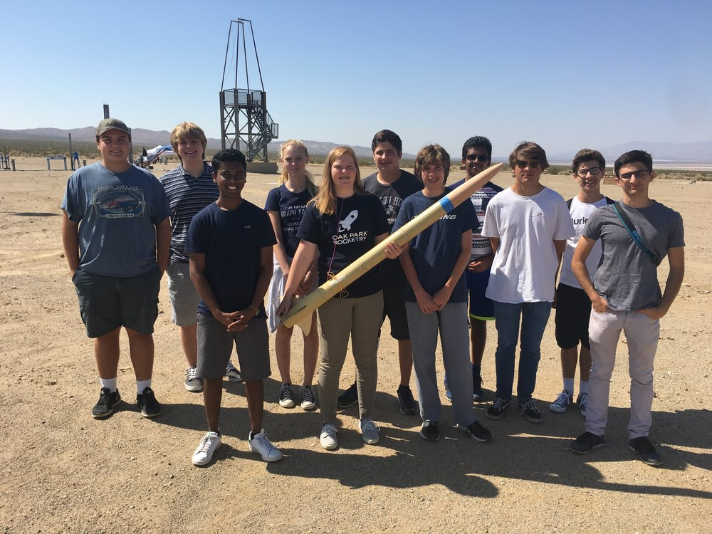 The Club Poses For a Picture Before Launching the Bamboo Rocket