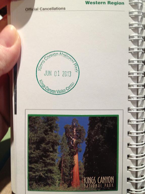 Kings Canyon Natinoal Park -Passport Stamp