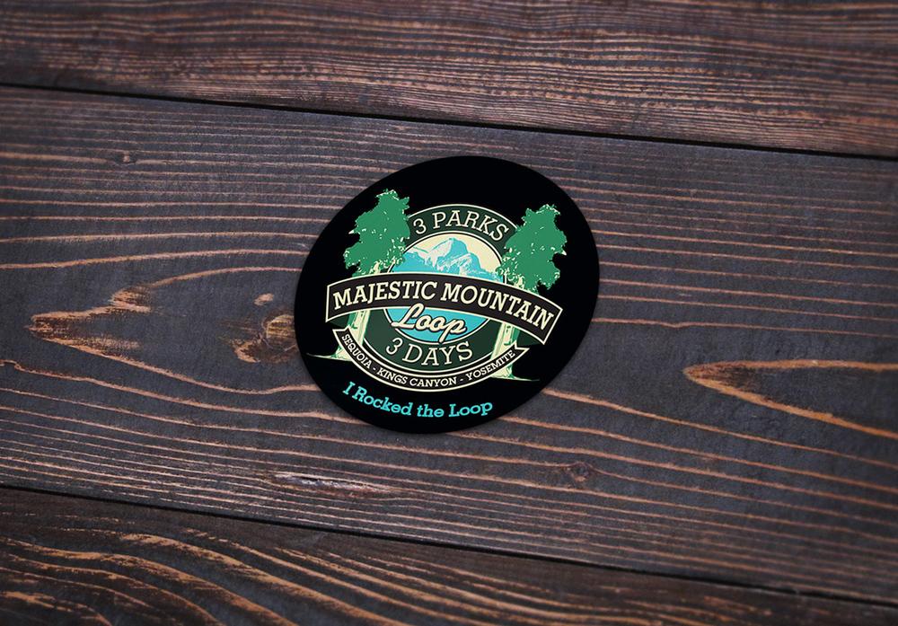 Majestic mountain loop sticker