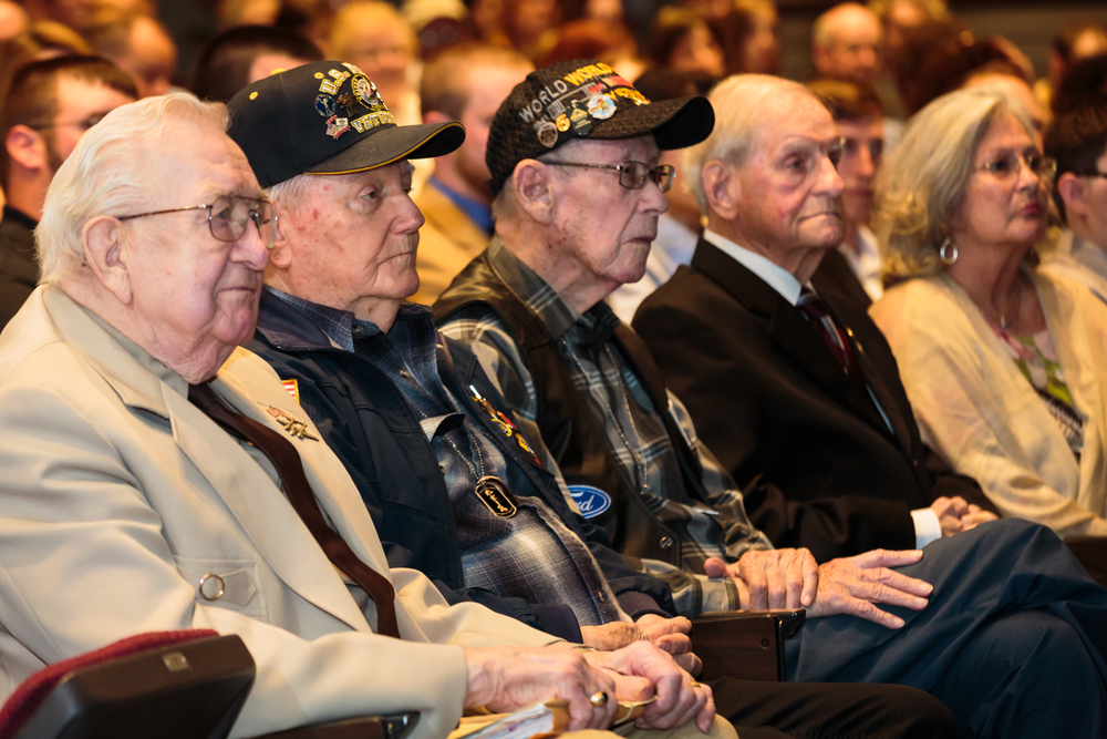 WW2 Veterans Attending Capstone Ceremony at HVCC