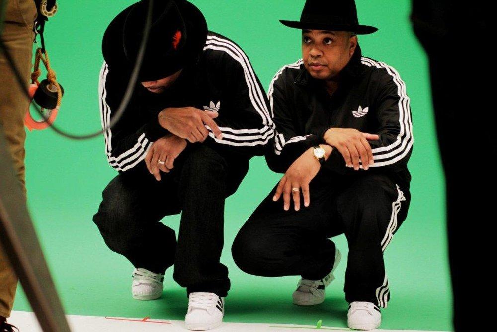 RUN-DMC in Adidas Tracksuits