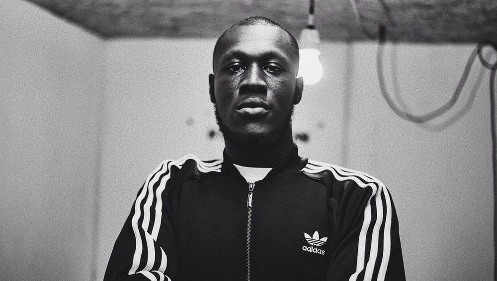 Stormzy in Adidas Tracksuit