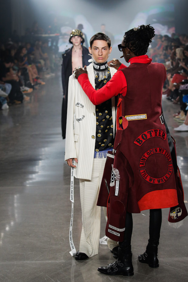 Young Thug Stops Model on Runway to Fix His Look