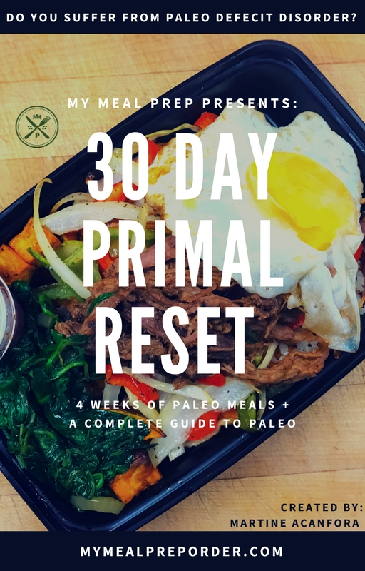 30 Day Primal Reset (10 meals weekly)