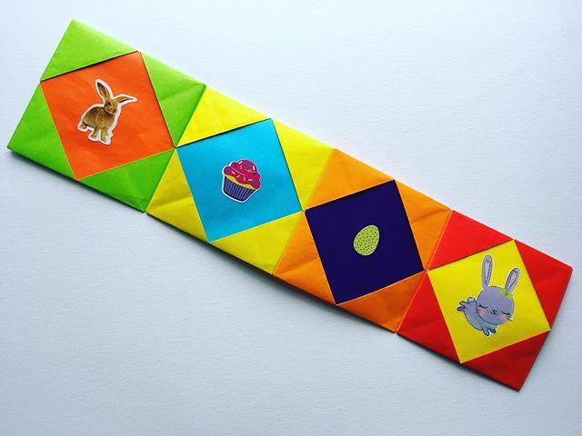 Happy Easter!🐣 #Easter #origami #rainbow #paper #artclass #kidsart #artpiques #sweettooth