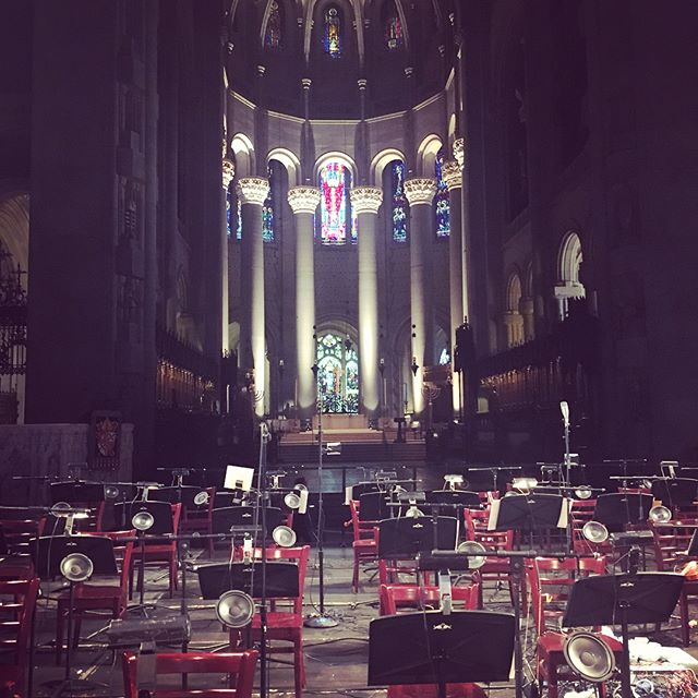 "Sooo many violins!! Excited to be performing Tristan Perich's ""Drift Multiply"" for 50 violins and 50 speakers at the beautiful Cathedral of St John the Divine tonight at 7:30pm! @redbullmusic @redbullartsny  #redbullacademy  #cathedralstjohnthedivine #stoptheviolins"