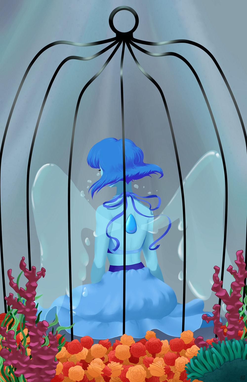 Lapis Lazuli  fanwork (Steven Universe; TV Series)   Paint Tool Sai/Photoshop, 2016