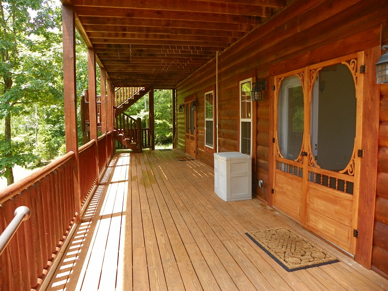 Positive Outlook lower level porch