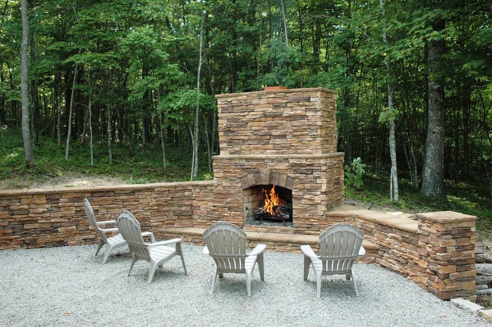 Hidden Point outdoor fireplace