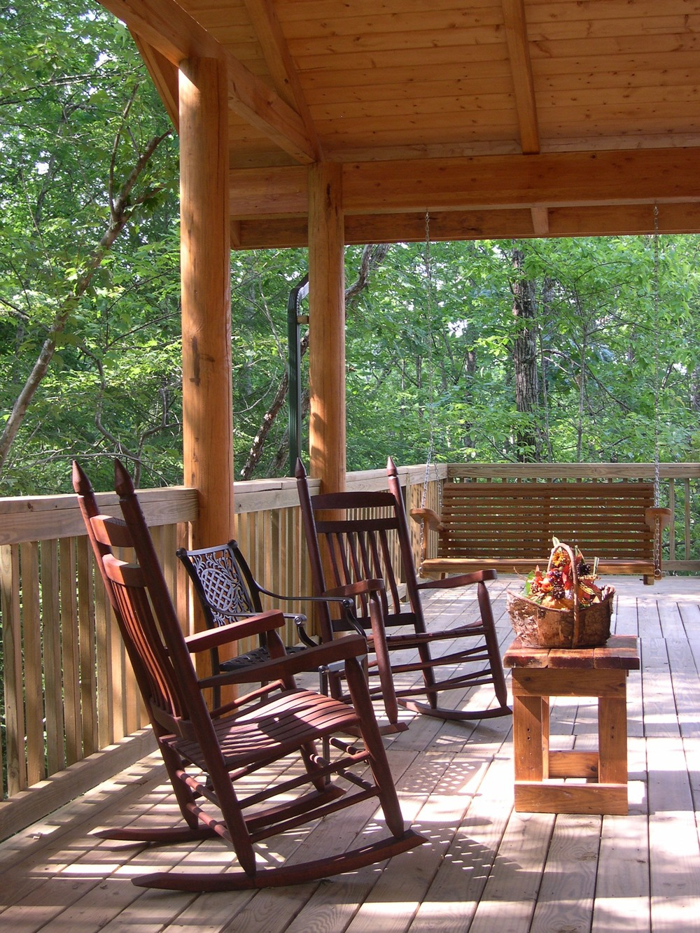 Hemlock Bluff front porch