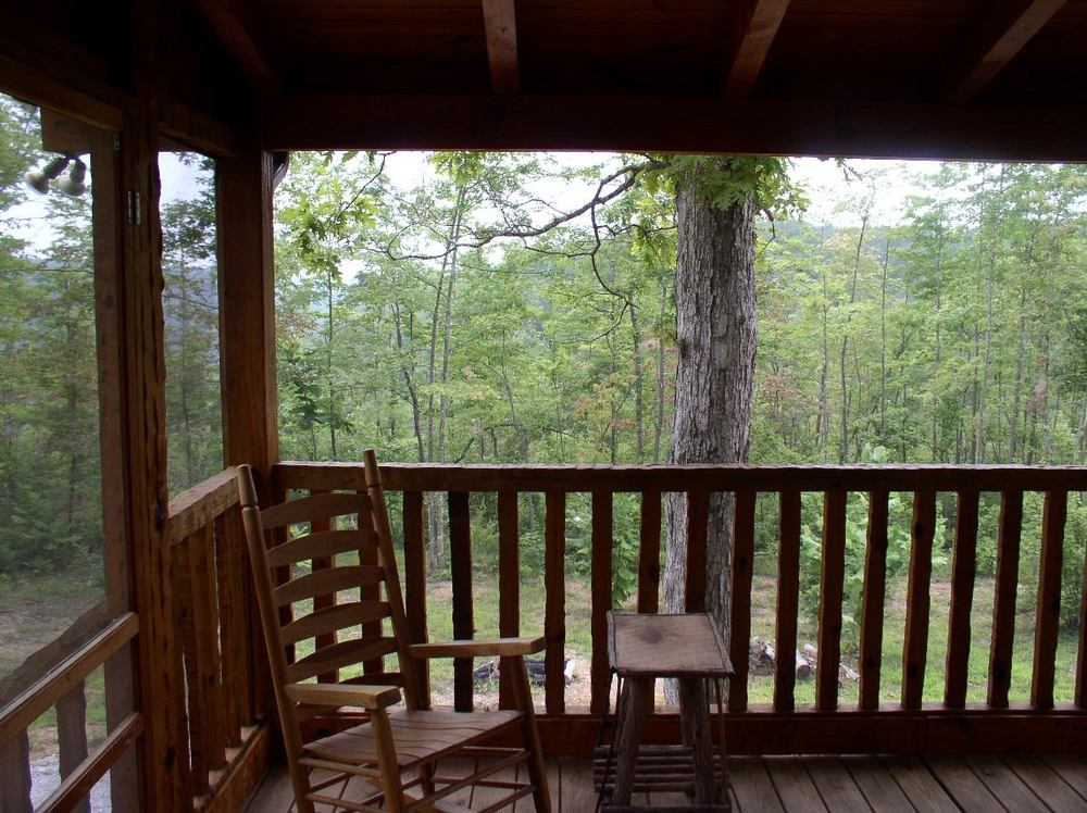Laurel Bluff screened in back porch