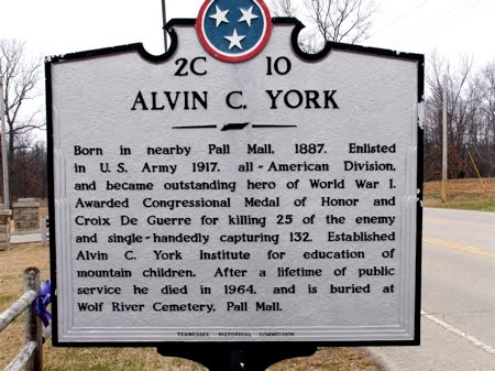 Sergeant Alvin C. York Historic Park sign
