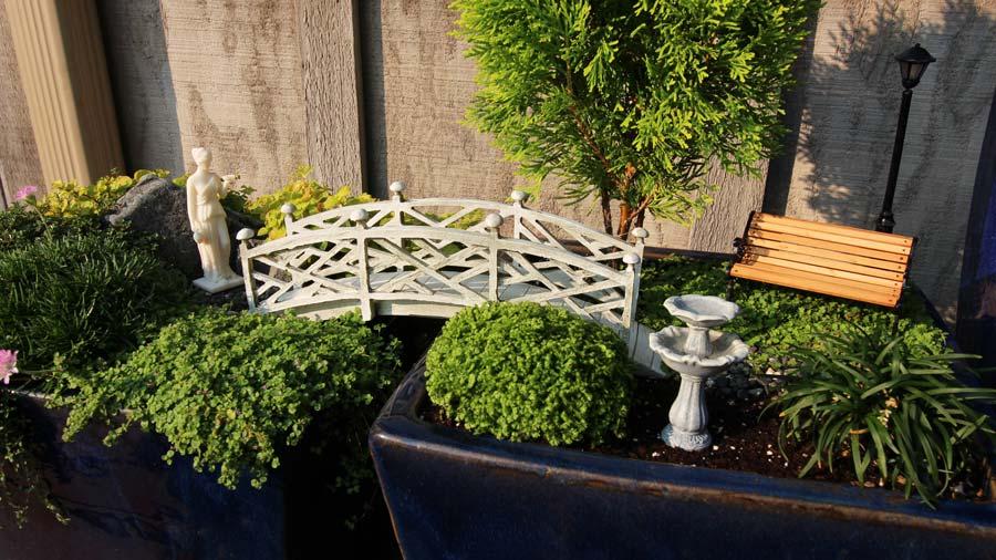 Miniature Garden Bridge 2pots
