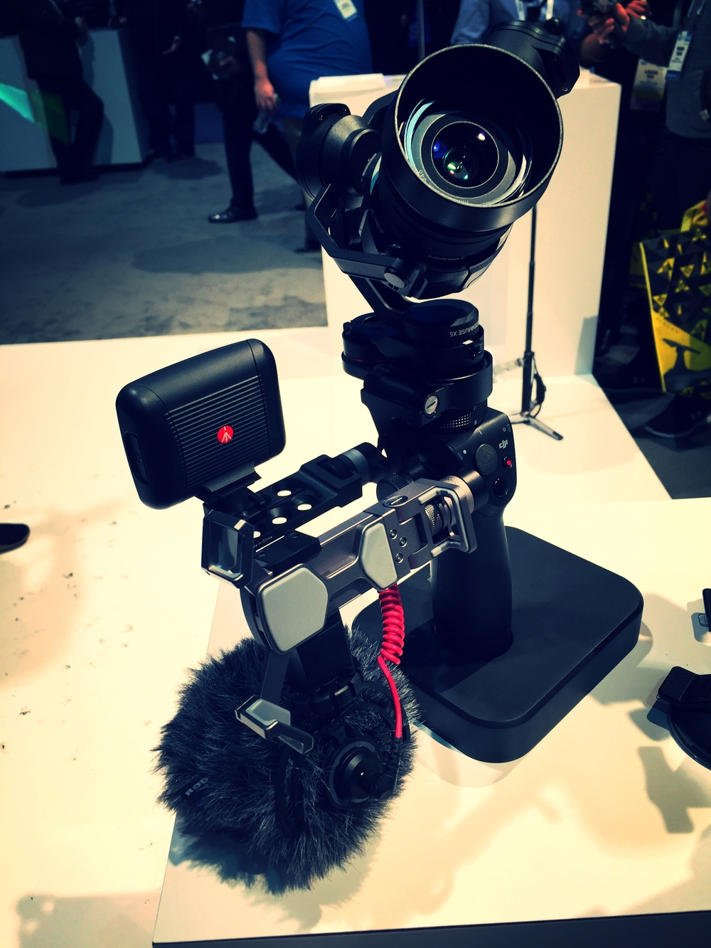 DJI OSMO with the Zenmuse X5 camera and additional accessories. Available through the  DJI Website .