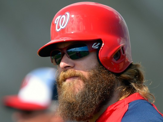 "John McDonnell/THE WASHINGTON POST -  Nationals right fielder Jayson Werth: ""My whole life has always been, you got to kind of get to know me. But usually first impressions are not my strong suit."":"