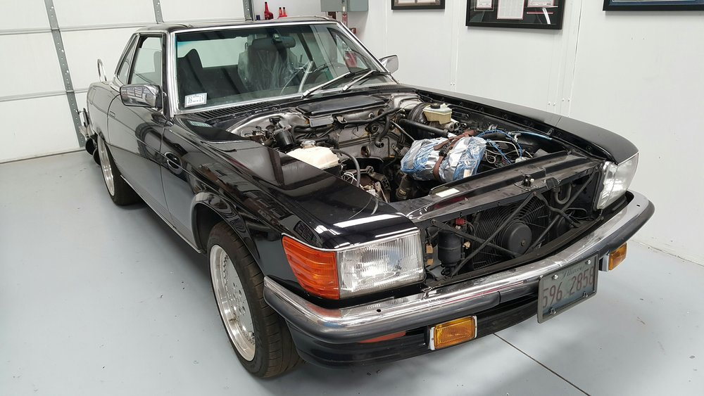 1986 mercedes benz 560sl carobu high performance parts for Aftermarket parts mercedes benz