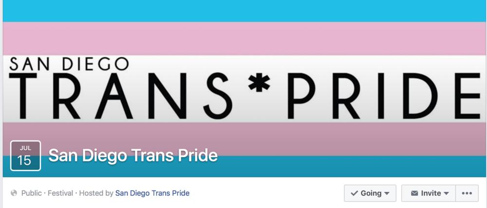 San Diego Trans Pride Facebook