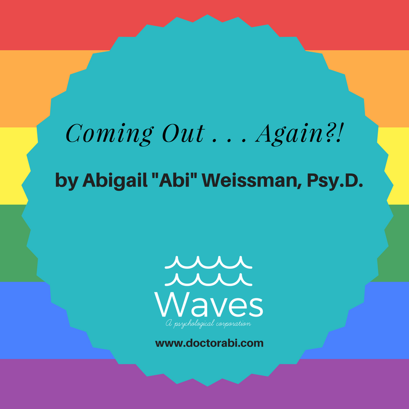 Dr. Weissman's new blog post on coming out as having ADHD and being the big queer that she is.