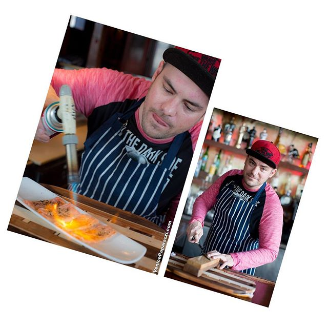 """Chef Nick Hale is the guy that has taken the Canal Club food into the stratosphere."" -@venicepaparazzi 🍣☄#canalclub #venicebeach #hamachi #salmon #sushi #sashimi #rawbar #woodgrill  #peking #chicken #amazing #chef #moleculargastronomy"