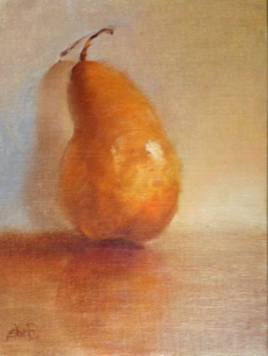 Bosc Pear - 8 x 6 - Oil on Linen