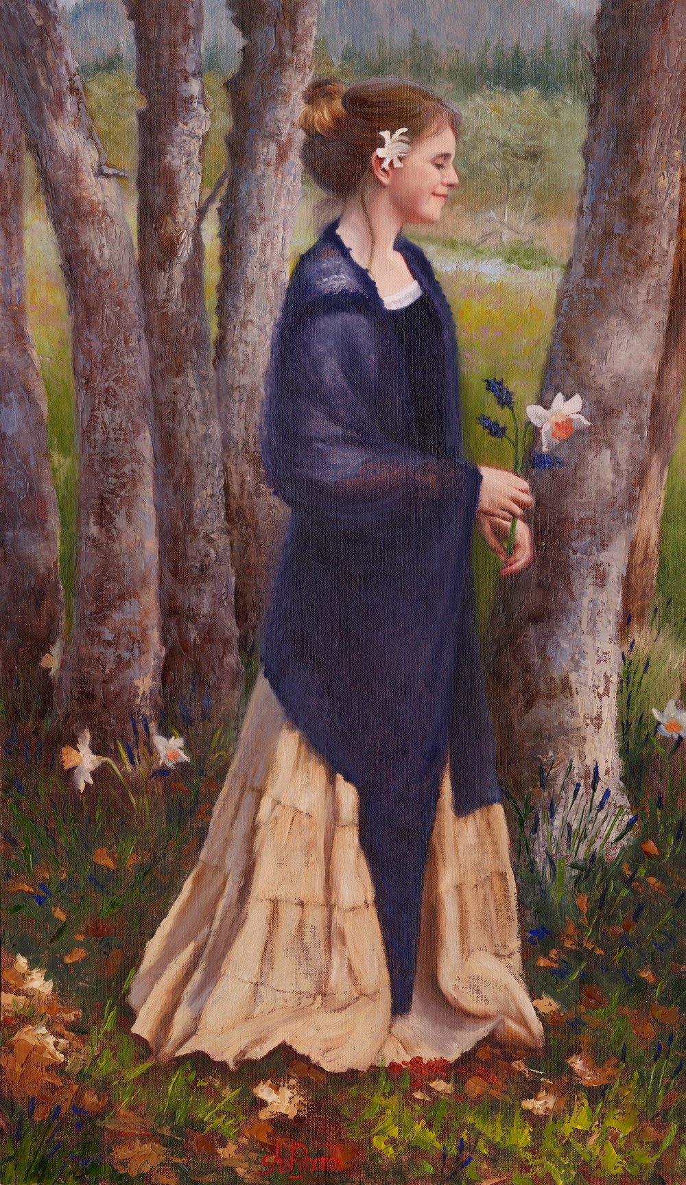 Coming into Spring  - 26 x 15 Oil on Linen