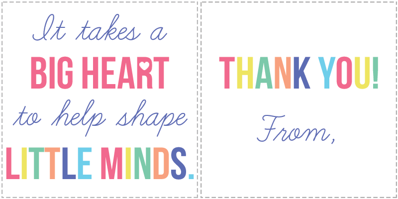 It is a graphic of Free Printable Teacher Appreciation Tags in sweet