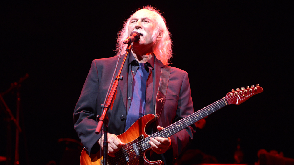 David Crosby and his Drop Top Classic in cherry burst