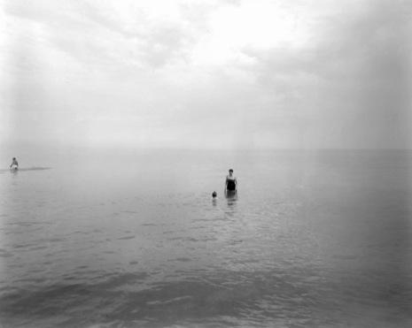 Harry Callahan,  Eleanor and Barbara, Lake Michigan  (c. 1953)