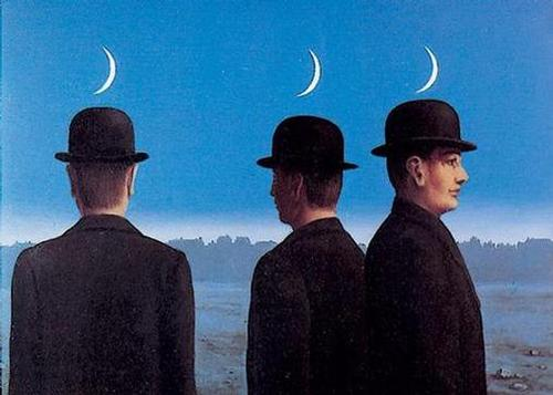 Rene Magritte, The Mysteries of the Horizon (1955), oil on canvas.