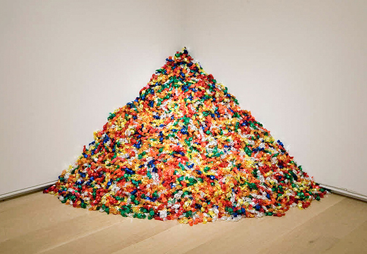 Felix Gonzalez-Torres,   Untitled (Placebo),   1991.  Andrea Rosen Gallery, New York