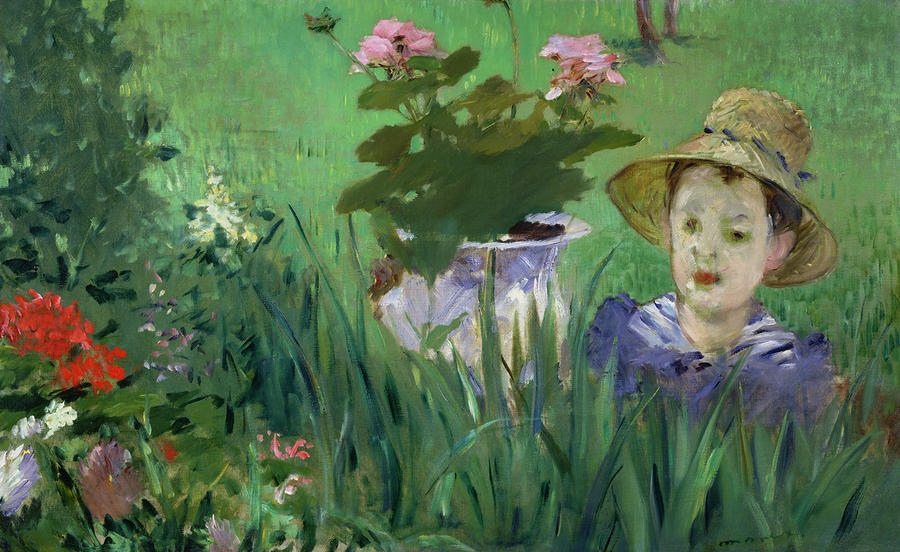 Edouard Manet (1832-83),  Child in the Flowers  (1876), oil on canvas.