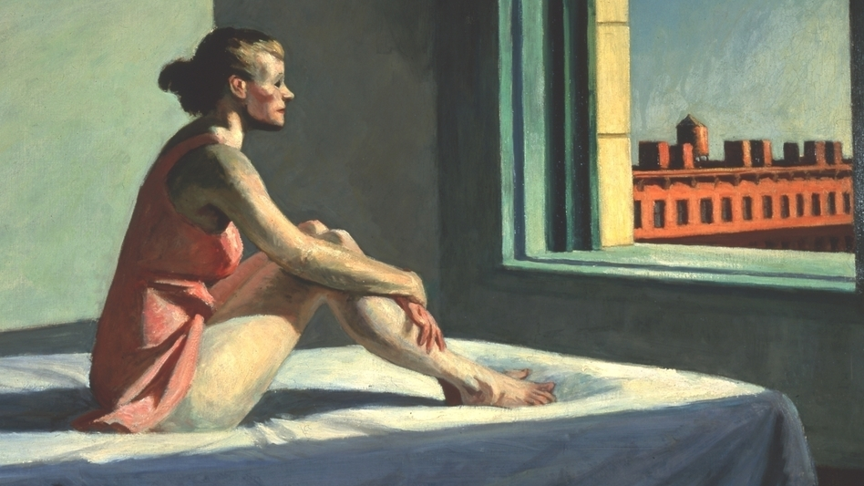 Edward Hopper,  Morning Sun  (1952), oil on canvas, collection of Columbus Museum of Art.