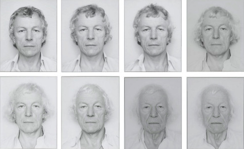 "Some of Opalka's self-portraits ""OPALKA 1965/1 -∞"", each 9 7/16 x 12 in (24 x 30.5 cm)"