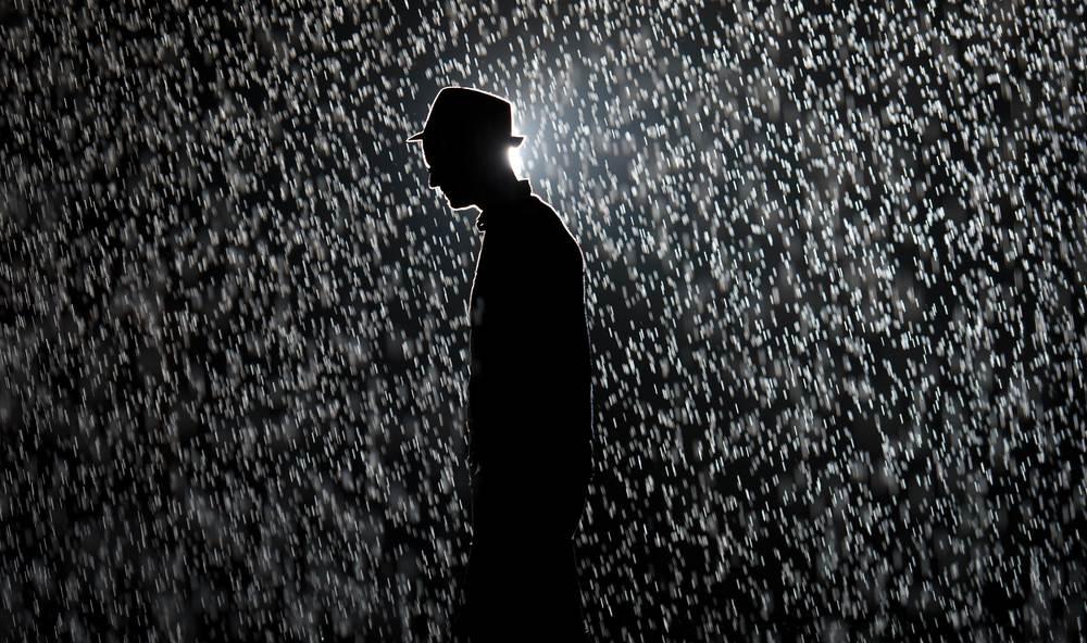 Rain Room  (2012), Random International,Photo: AFP/Leon Neal