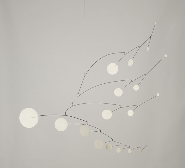Alexander Calder,   Nineteen White Discs , 1950, Museum of Contemporary Art, Chicago.