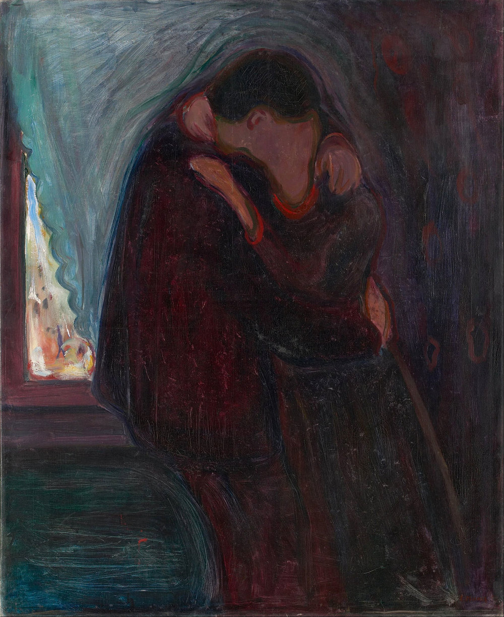 Edvard Munch,  The Kiss , 1897, oil on canvas, 99 × 81 cm, © Munch-museet/Munch -Ellingsen Gruppen/Bono