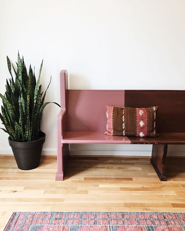 I'll take this bench, this pillow, this rug, and I'll go ahead and kill this plant too while I'm at it.