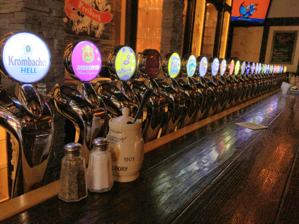 The largest German beer selection on tap in Madison, WI                                                                                                                     Photo by Epicurean Chronicles