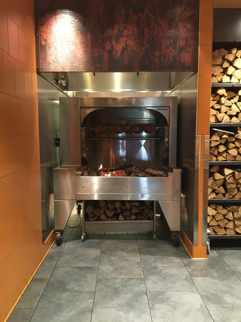 Red & White Oak wood is used for the in-house rotisserie                                                                                                                    Photo by Epicurean Chronicles