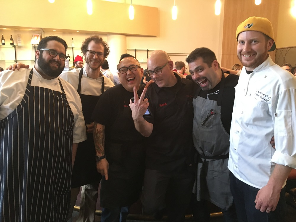 L-R: Chef Daniel Bonnano, Chef Dan Fox, Chef Tory Miller, Chef Patrick DePula, Chef Joseph gaglio, chef patrick mccormick                                                                                                                                                    Photo by Epicurean Chronicles
