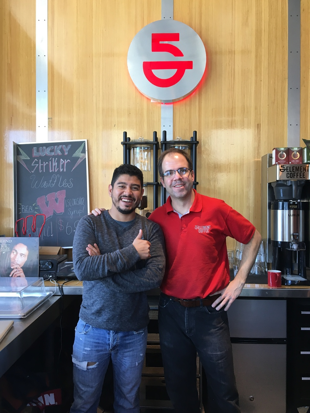 Alejandro Mendez and Todd Allbaugh - Co-owners of 5th Element Coffee                                                                                            Photo by Epicurean Chronicles