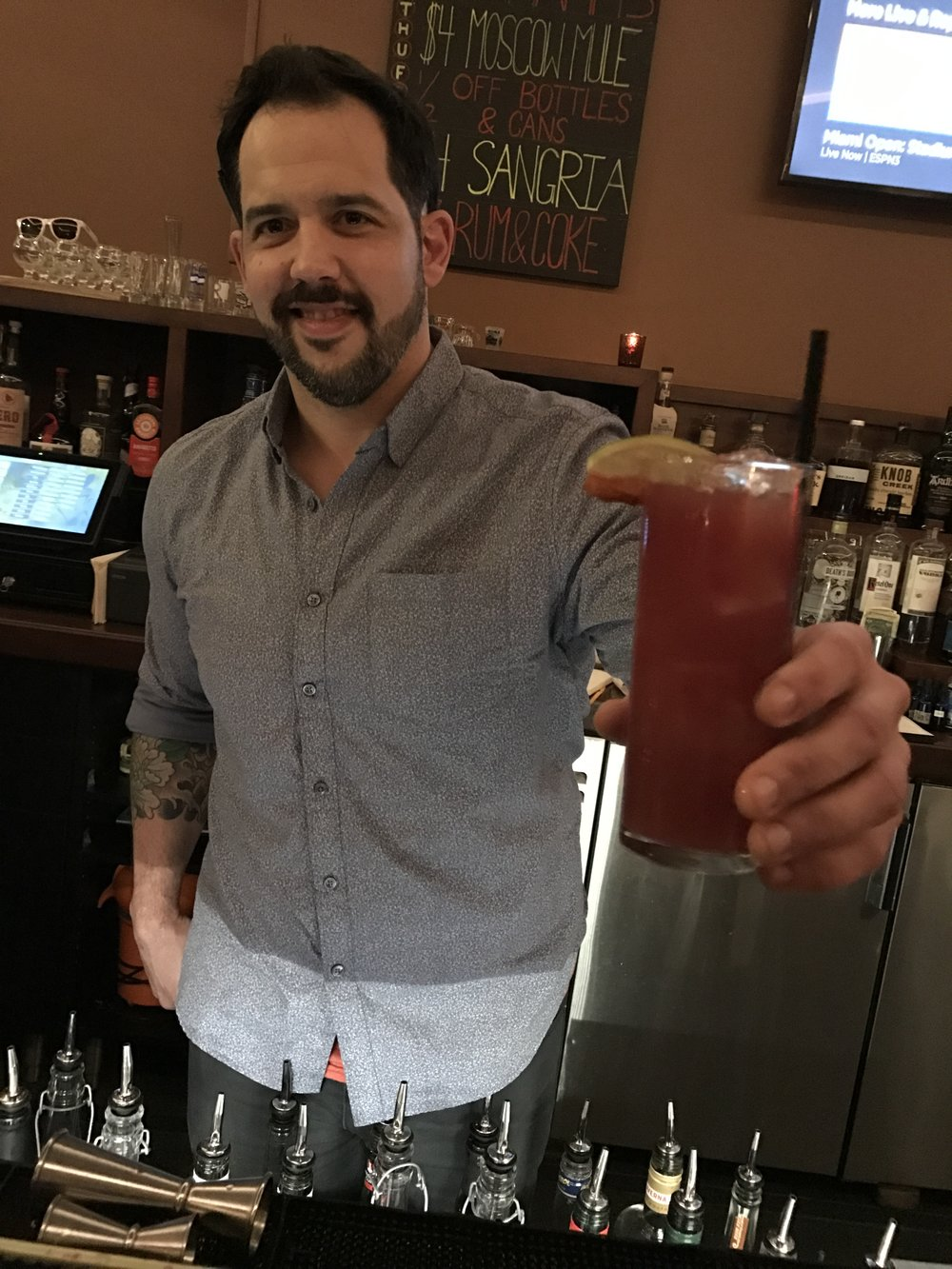 bartender Steve dawson with the 'Vampiros Mexicanos
